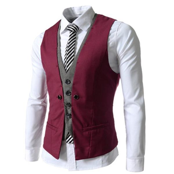 2016 New Men Suit Vest Fashion Casual Wedding Formal Business Suits Blazer Costume Vest(China (Mainland))