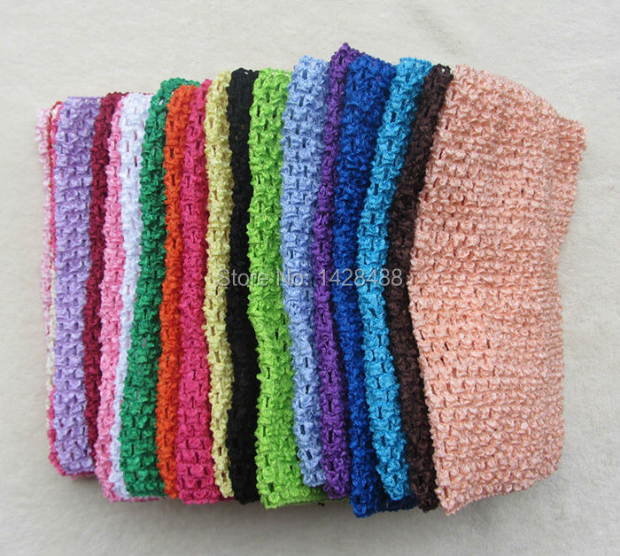 35pcs/lot 2014 Chic Cute colored Baby Girl 9 Inch Crocheted Tube Tops Kids Crochet Chest Wraps wholesale 23CM*20CM headbands(China (Mainland))