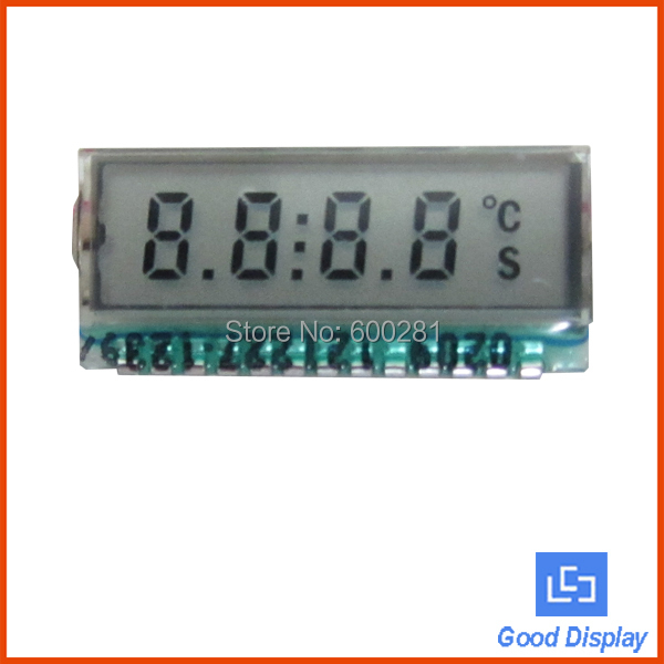 Small 7 segment 4 digit TN lcd panel GDC0209 4com lcd(China (Mainland))