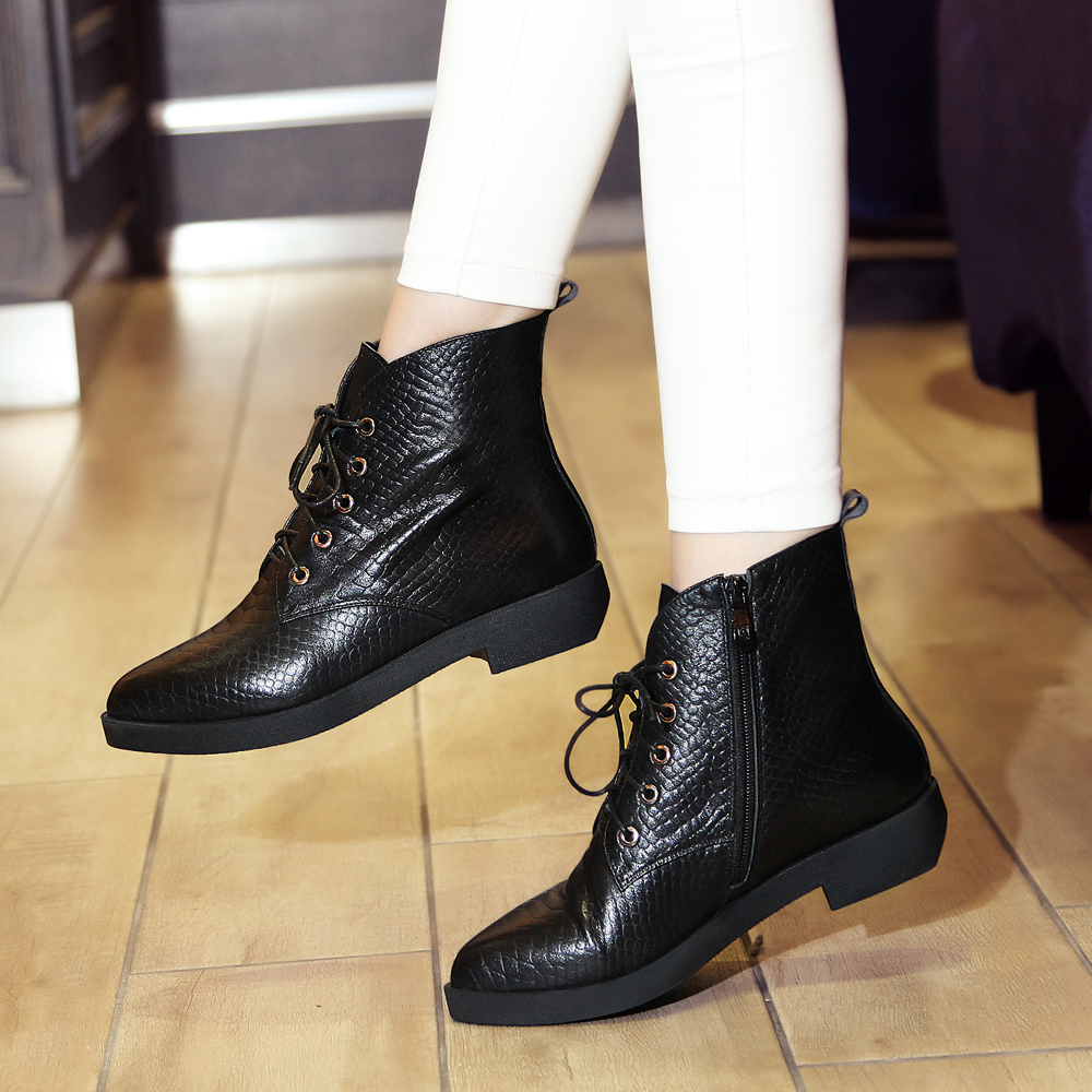 Punk Rock Ankle Boots Ankle Boots Flat Punk Rock