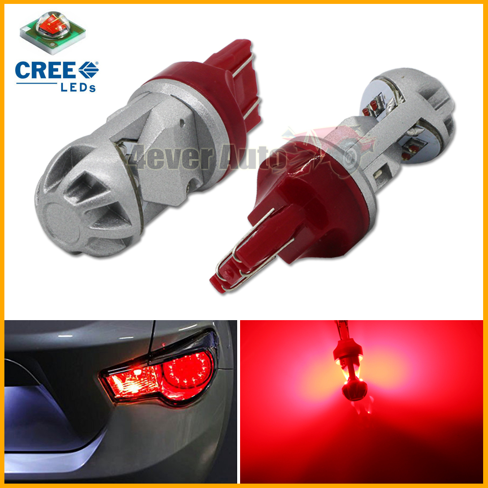 2pcs Red High Power Max 20W CREE LED 7443 T20 7444NA LED Bulbs For Turn Signal Lights, Tail Lights, Brake Lights, Brilliant Red(China (Mainland))