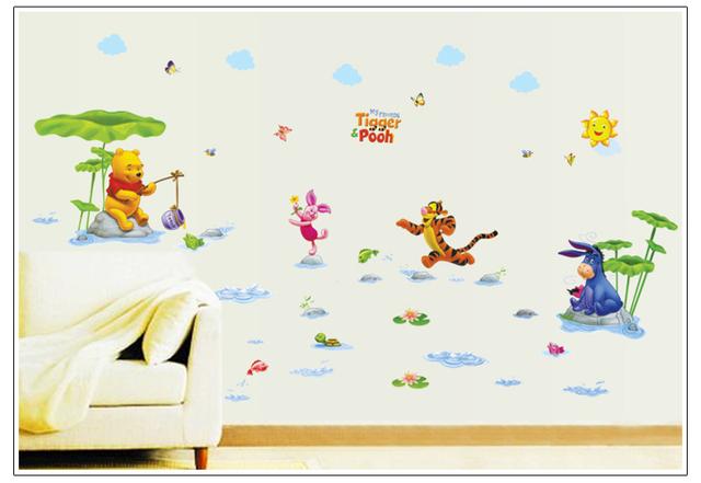 Комикс медведь и тигр животные друзья для дети в комната стена украшение стена наклейки надписи 7058