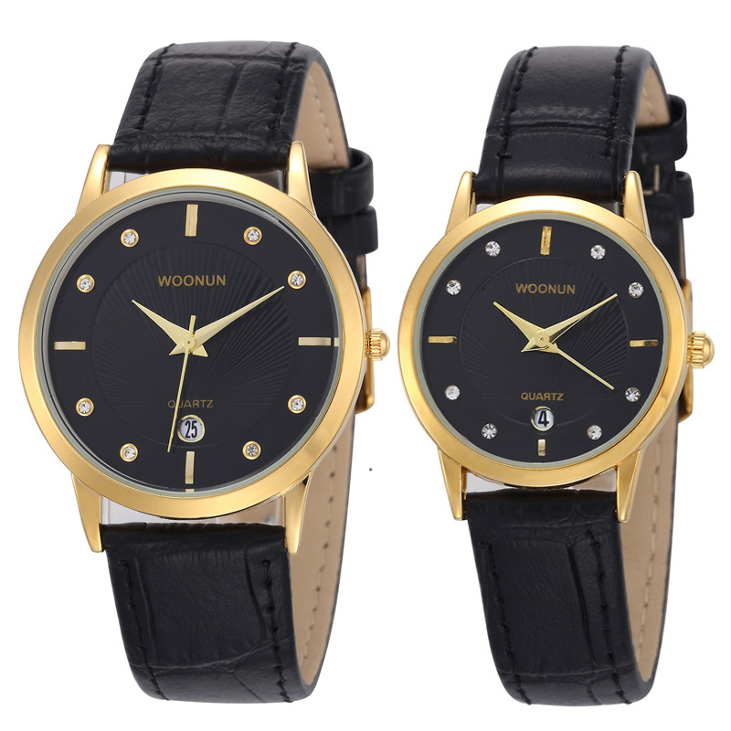 WOONUN New Fashion Ultra Thin Watches For Men Women Luxury ...