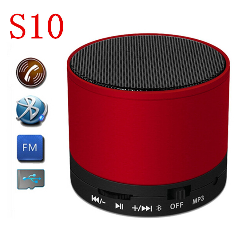 Mini S10 subwoofer Bluetooth Speakers Portable Wireless Speaker MP3 Player computer speakers 1pcs Speaker with Free shipping(China (Mainland))