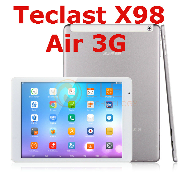 "teclast x98 air 3g dual boot 64GB /32GB Android 4.4 / Windows 8.1 9.7 "" Retina Z3736F Quad Core WCDMA phone call GPS tablet pc(China (Mainland))"