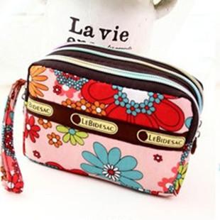 New 2015 Nylon Multifunction Make up Makeup Organizer bag Women Cosmetic bags Outdoor Travel Bag Handbag phone package(China (Mainland))