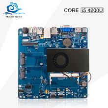 2016 New mini -itx motherboard core i5 4200U desktop computer hdmi+vga sata 3 ddr3 usb 3.0 integrated mainboard(China (Mainland))