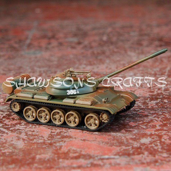 """DIE CAST METAL MILITARY MODEL 1:43 SOVIET RUSSIAN T-55 7"""" ALLOY TANK REPLICA(China (Mainland))"""