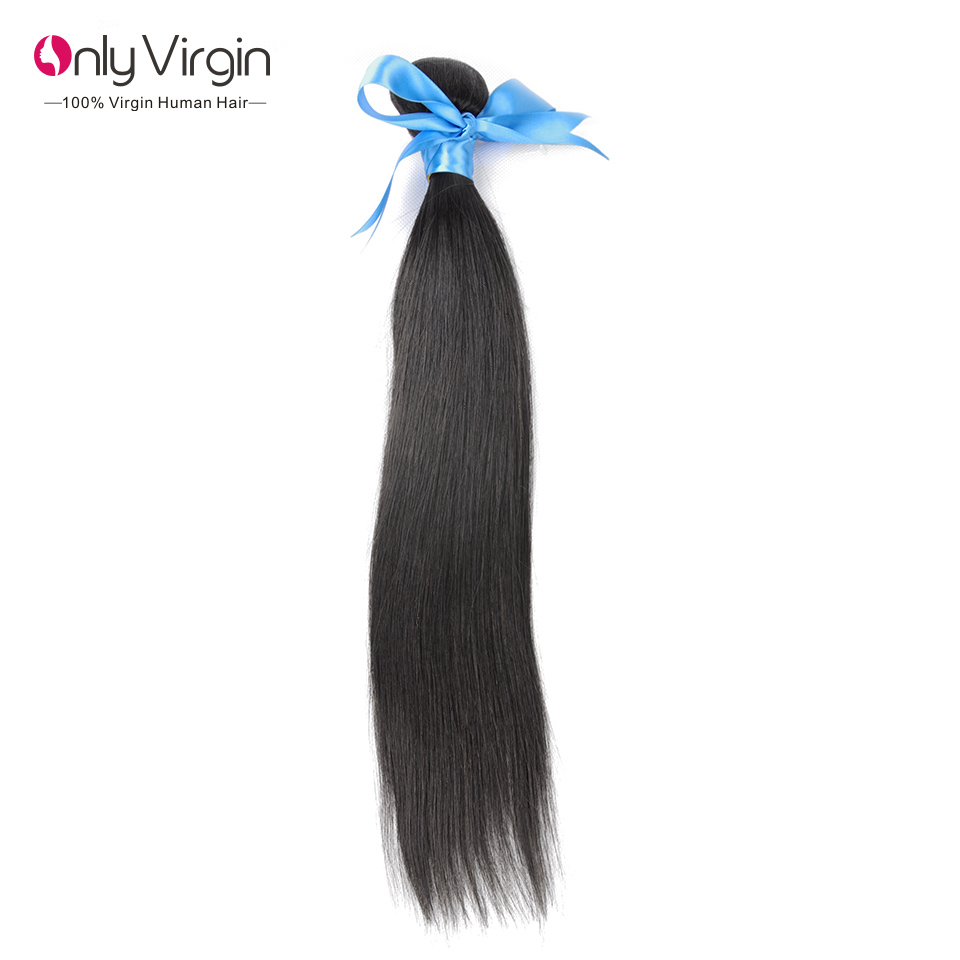 100 Virgin Brazilian Remy Human Hair Extensions Weave Hair Straight 100G Virgin Brasilian Human Hair Bundles 1B Natural Black