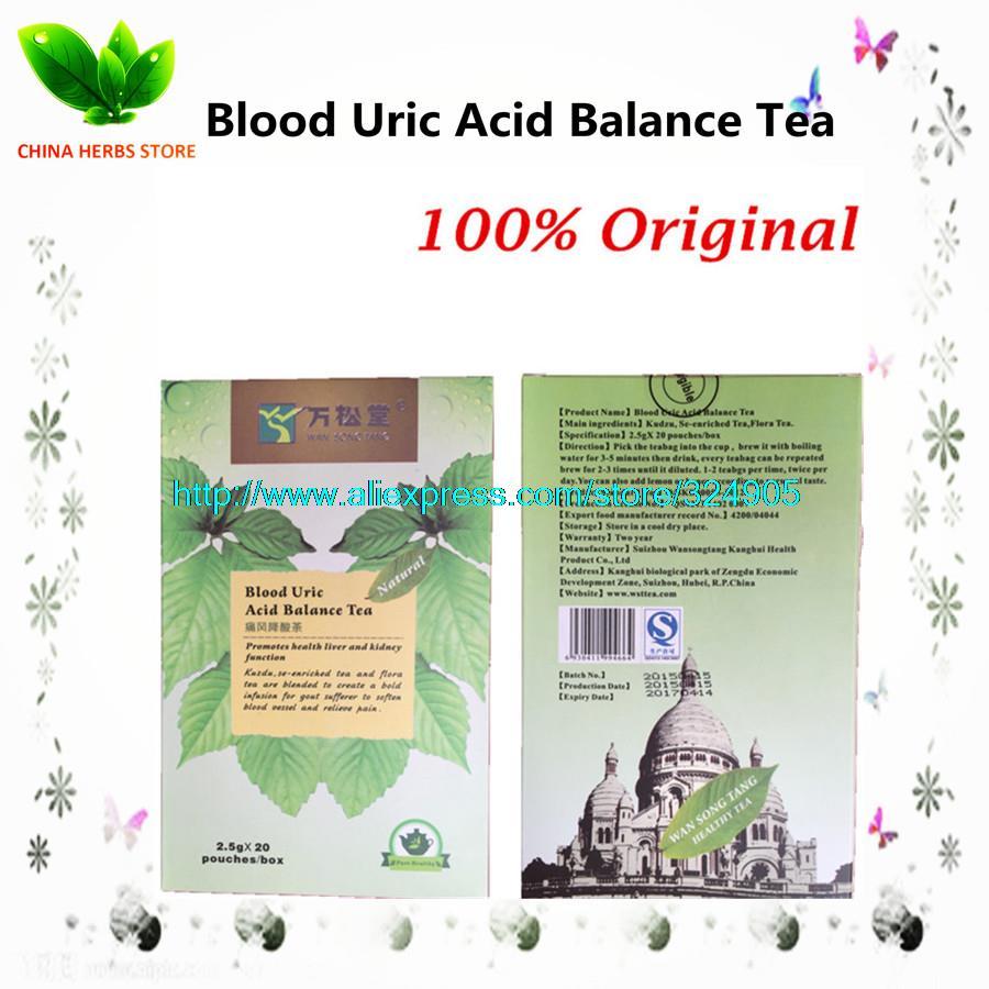 1 boxes 20 packs Blood Uric Acid Balance Tea Rheumatoid arthritis prevention of gout pain relief