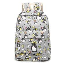 Miyazaki Hayao Totoro Cosplay Backpack Cute Cartoon Printing Anime Student Schoolbag CanvasTravel Bags Birthday Gift - Blue-Dream store