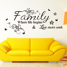 1PCS Family Living Room Wall Decals Adesivos Home Decoration Wallpaper Painting Paste Removable Vinyl Wall Sticker Art Poster(China (Mainland))