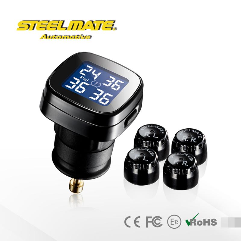 Steelmate DIY TPMS TP-71 P Tire Pressure Monitoring System LCD Cigarette Plug Display External Sensor PSI Unit(China (Mainland))
