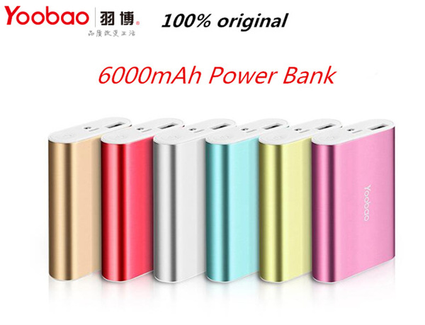 Yoobao Power Bank 6000mAh YB-6023 Portable Power Bank y for iphone SE 6s 6 plus HTC Samsung S7 for HUAWEI P9 for XIAOMI max(China (Mainland))