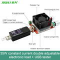 35W constant current double adjustable electronic load USB tester for charger power bank current dc voltage