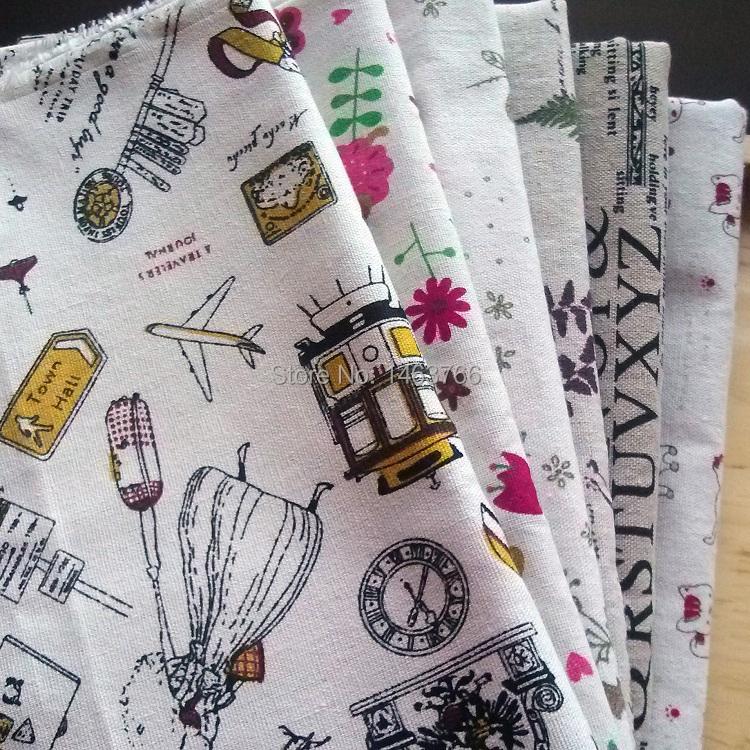 Patchwork Printed Cotton Linen Fabric  Sewing Tilda Fabrics Diy Cotton Tissue Home Textile Linen  Telas Fat Quarter Tecido Cloth