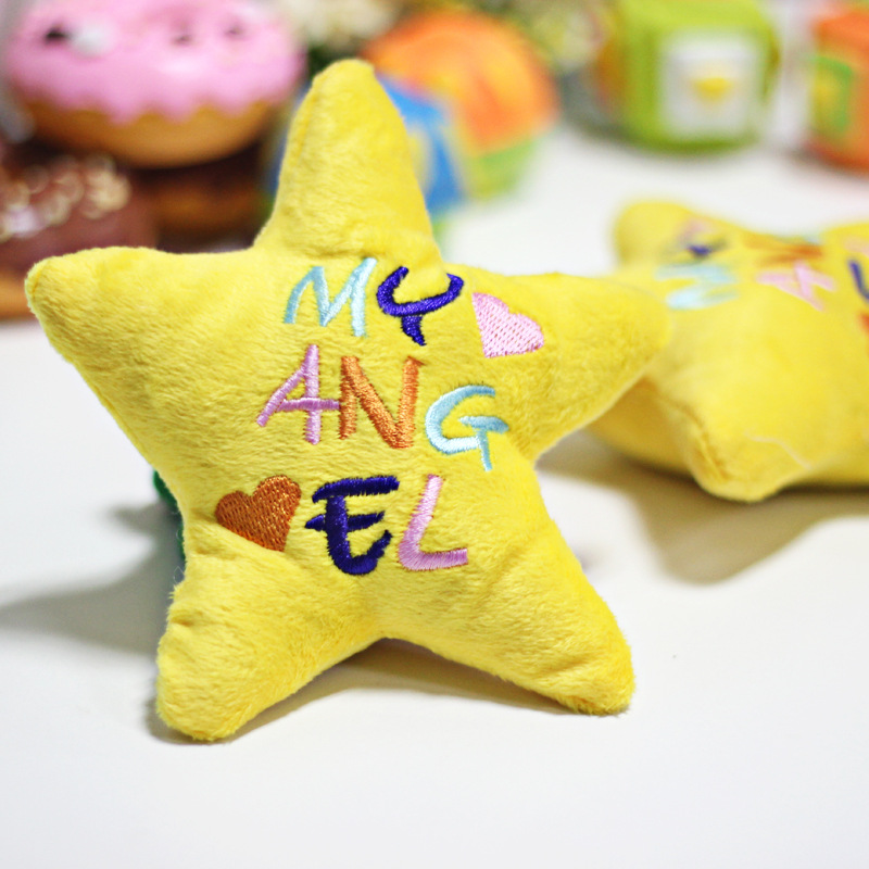 Pet Toys Sounding Toys Lovely letter star Teddy Yorkshire pet sounds Dog Toys Squeal toy Clothes for Dogs(China (Mainland))