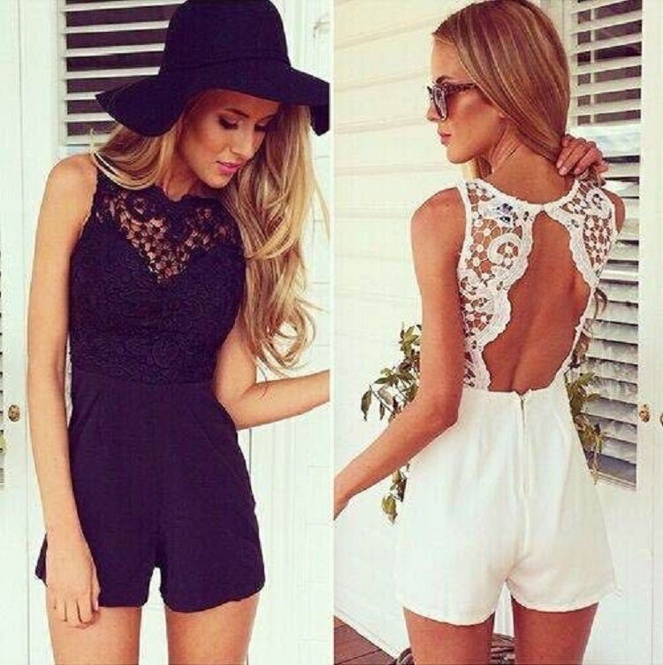2015 Hot sale lace rompers womens jumpsuit new summer cute feminino vestidos female overalls playsuits Clothing(China (Mainland))