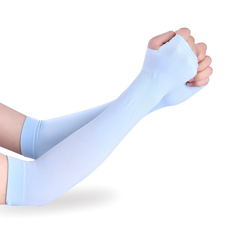 Summer cool Gloves Long sleeve and sunscreen sunscreen ice silk sleeves riding sports driving arm sleeve(China (Mainland))