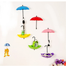 Buy 6Pcs Colorful Hook rails Umbrella Shape Wall Hook Key Hair Pin Holder Organizer Home Decorative B0 for $3.52 in AliExpress store