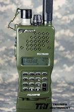 Tri prc-152 uv double fm full function -three walkie talkie green