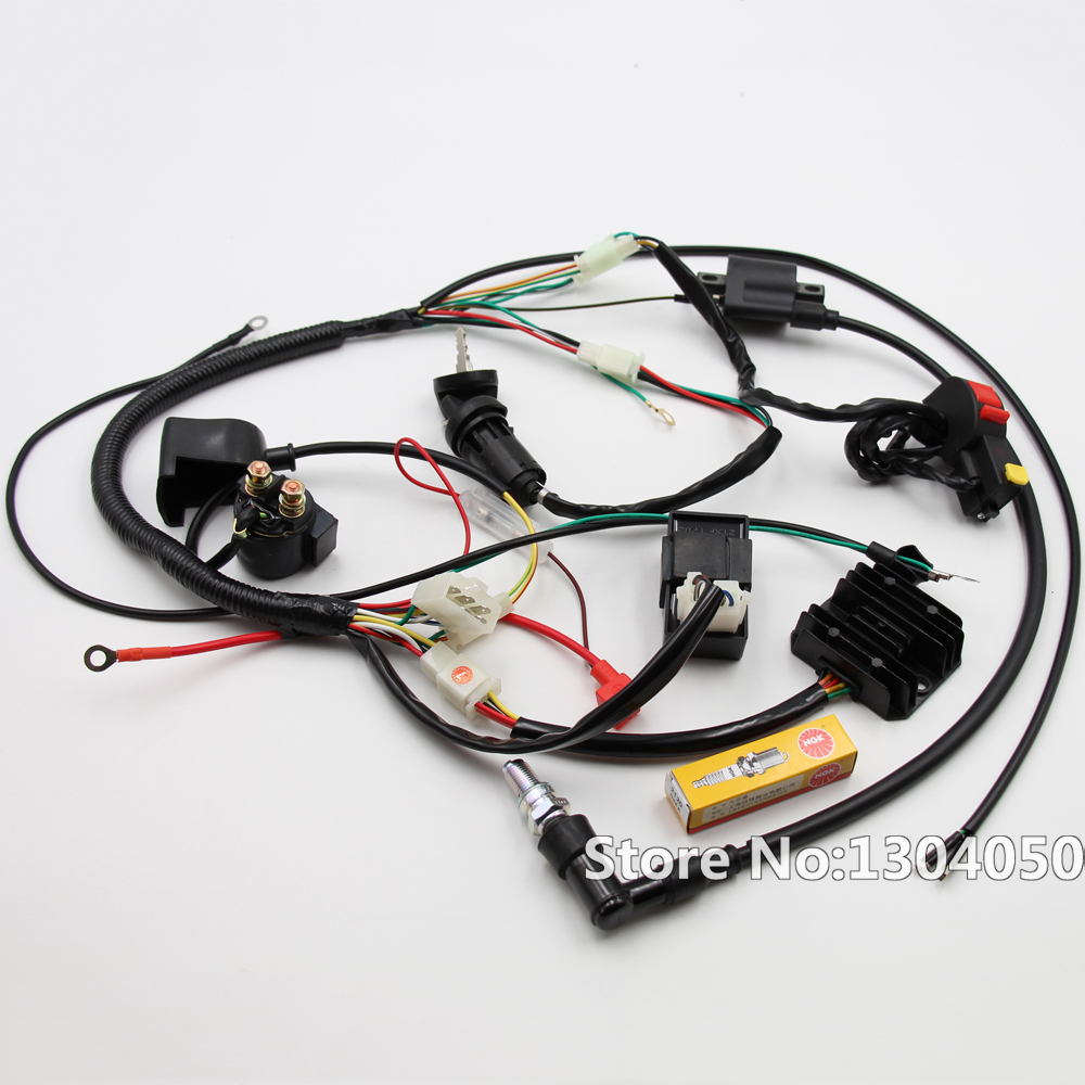 high quality wiring harness cdi buy cheap wiring harness cdi lots engine electrics wiring harness loom cdi relay recitifier ignition coil kits chinese dirt bike 150cc 200cc