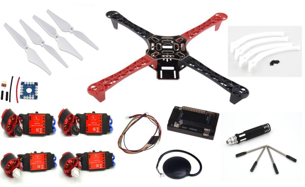 F450 Quadcopter Frame w/ APM2.6 2.6 6M GPS 2212 920KV cw/ccw 30A SimonK ~F4A06