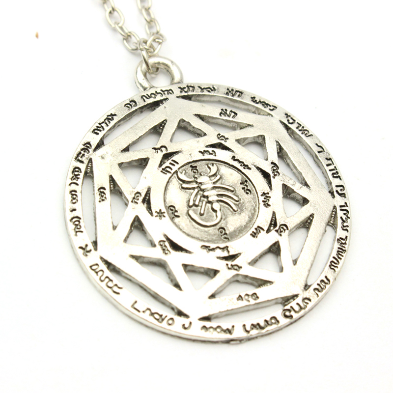 Best Selling 1 PC High Quality Supernatural Winchester Devil Pendant Necklace New Hollow Chain Necklace Rune Vintage Jewelry(China (Mainland))