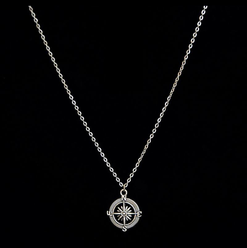 New Design Vintage Pendant Compass Necklaces for Teens Round Compass Pendant Necklace for women & men Gift YCXN053(China (Mainland))