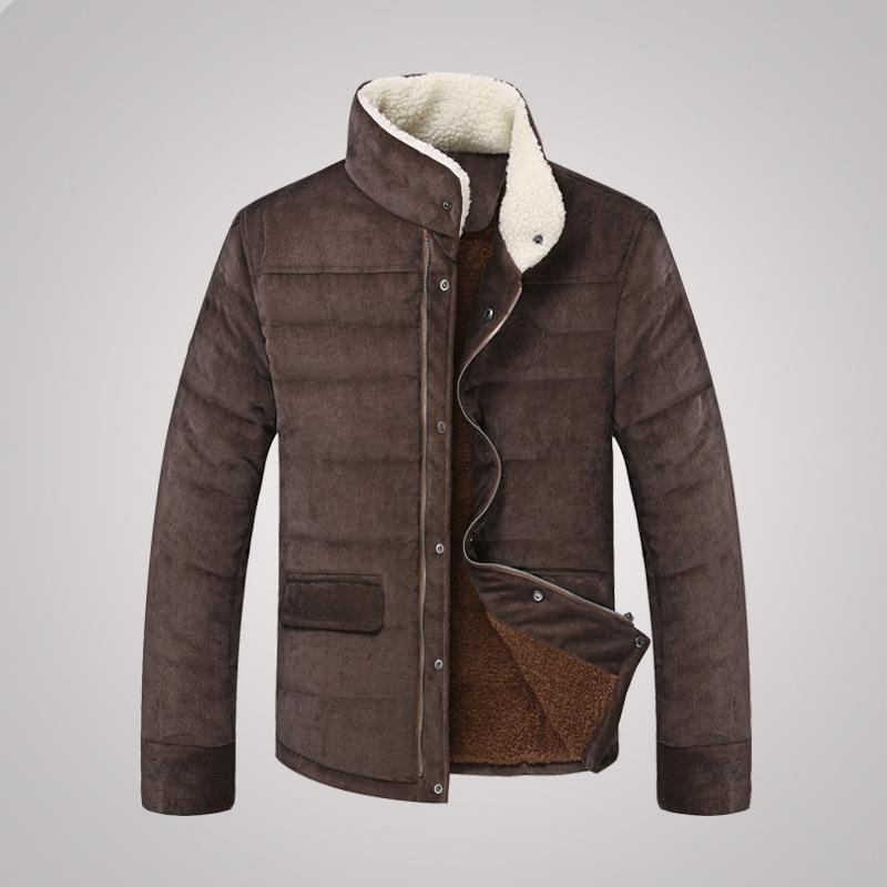 New 2014 new Men s winter Korean casual men s jacket lamb fur collar coat Man