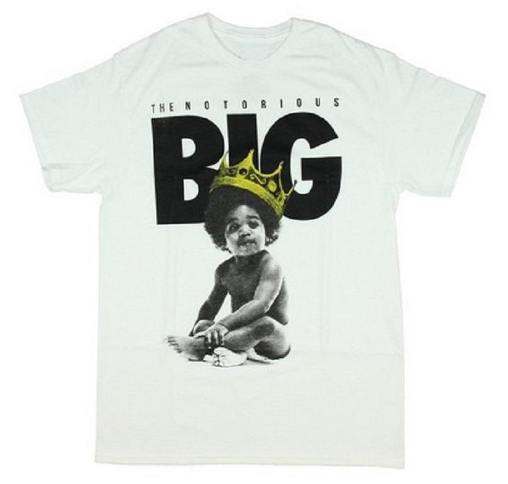 Notorious B.I.G Baby Biggie T Shirt Men's Summer Shorts Hip Hop Tee Fashion Design Printed Cotton Tees Shirts XS 2XL Hot Sale(China (Mainland))
