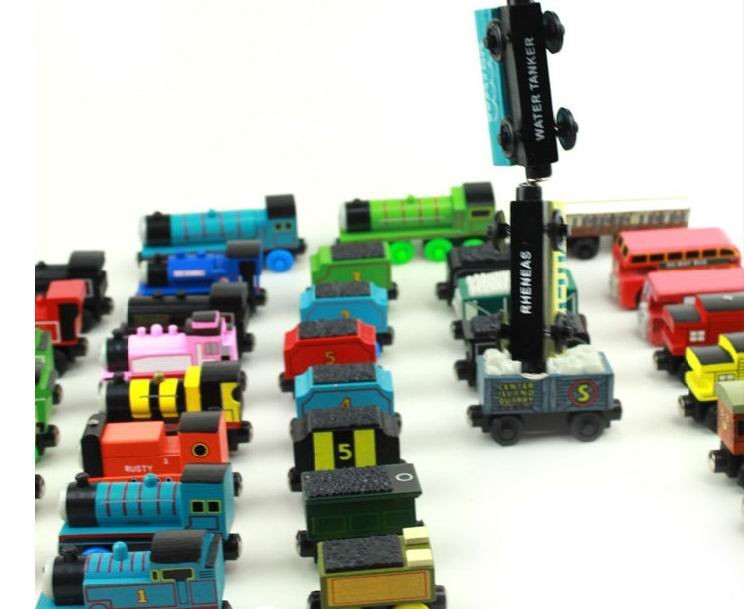 8pcs/lot wooden magnetic Thomas And Friends Train toys/ Wood Complete Set Of Car Engine Train Toys, free shipping(China (Mainland))