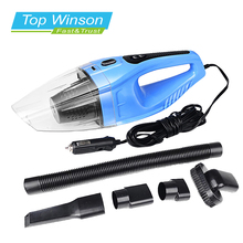 5 pcs/lot 120W Portable Car Vacuum Cleaner Wet And Dry Dual Use Auto Cigarette Lighter Hepa Filter 12V Blue(China (Mainland))