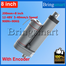 Buy Bringsmart Hot L-TGA-Y 200mm 8 Inch Linear Actuator Encoder DC Motor 900N 90KG load 12-48V Tubular Motor Stroke for $68.48 in AliExpress store