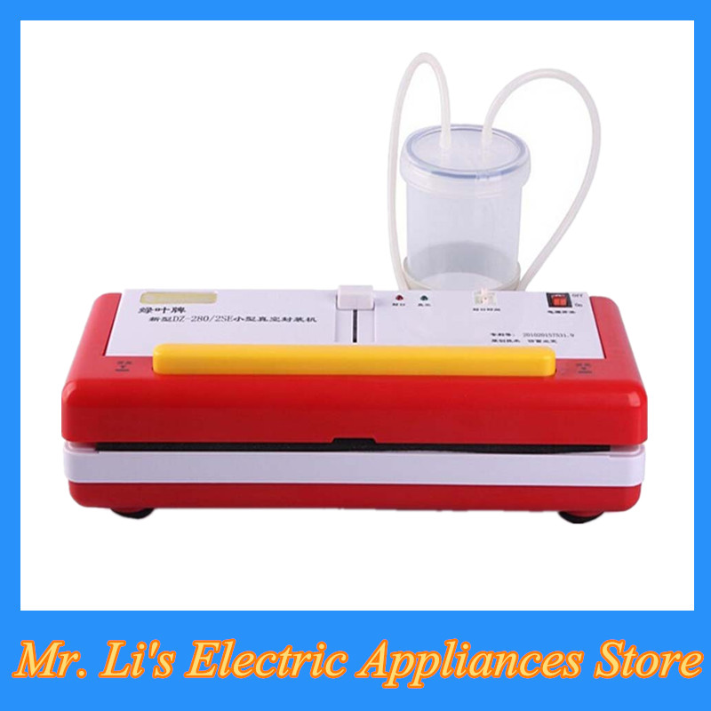 8pcs/lot New Household Automatic Vacuum Packing Machine for Fruit Vegatable Vacuum Food Sealer Machine in Red Color DZ-2SE(China (Mainland))