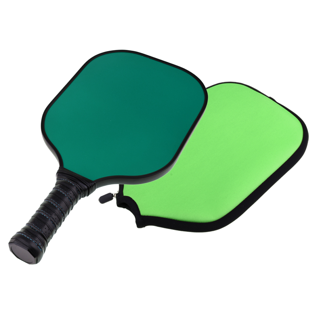 Indoor Outdoor Multi-color Performance Carbon Fiber Competition Pickleball Paddle Racket & Protector Cover Sleeve