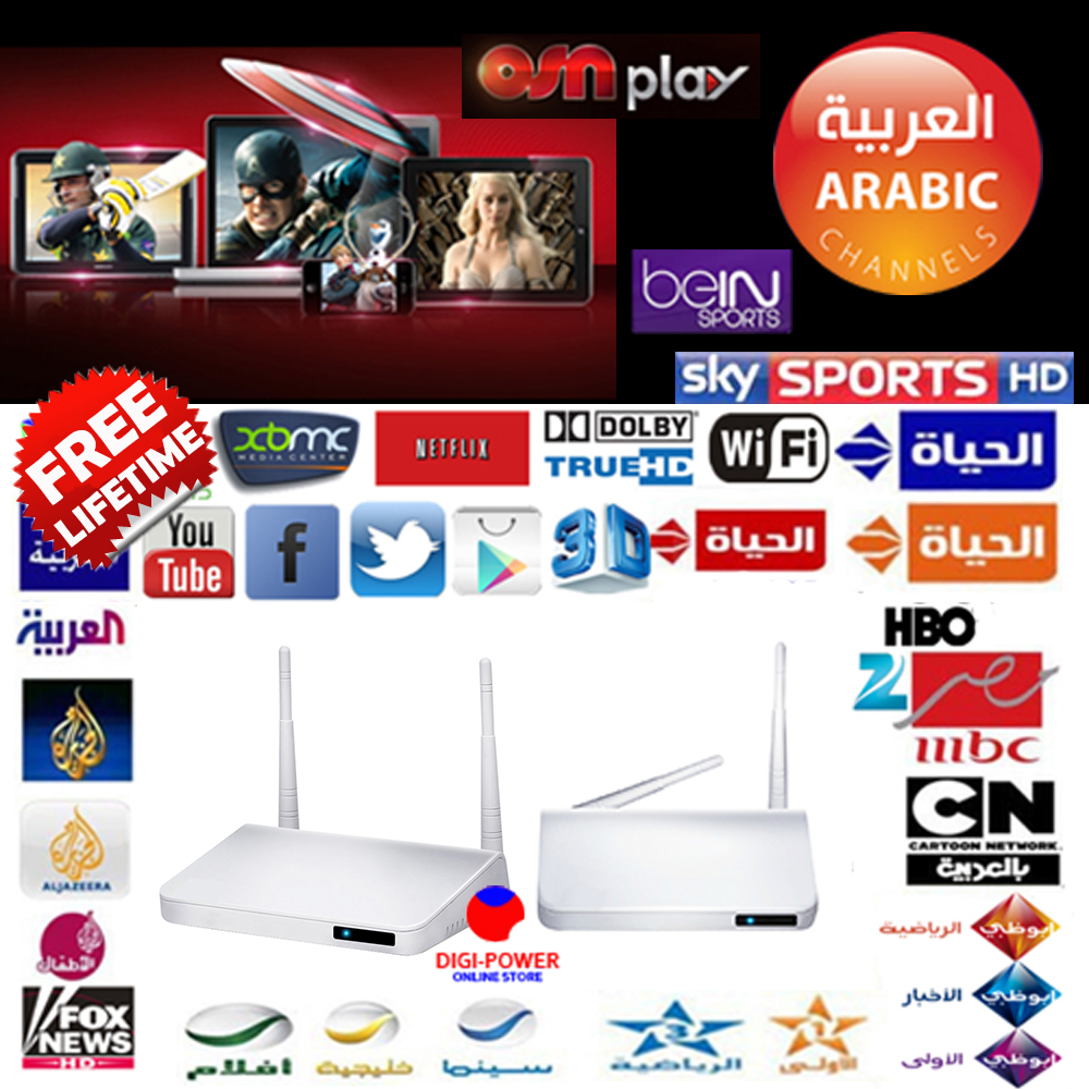 PowerTV X6 Arabic iptv ANDROID TV BOX FREE WATCH BeINSports INDIAN AFRICA kodi XMBC BETTERthan mxq s802 amlogic s805 CS918 qhdtv(China (Mainland))