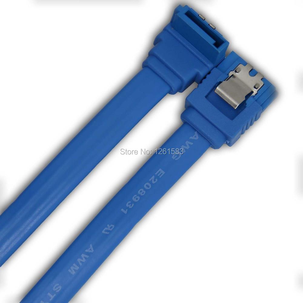 Free Shipping 4pcs SATA 2 II 2.0 7-pin Data HDD Hard Drive Disks Blue Cable(China (Mainland))