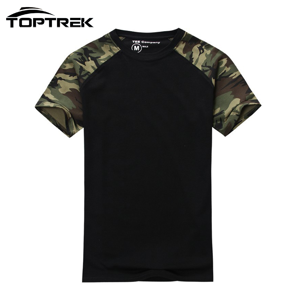 Man Casual Camouflage T Shirt Men Cotton Army Tactical