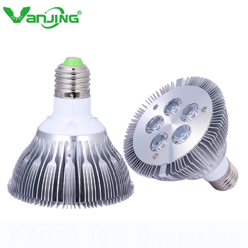Ultra Bright 2pcs E27 E26 Led Spotlight PAR30 5X2W 10w LED Light Bulb Lamp AC 86-265V Nondimmable Spotlight(China (Mainland))