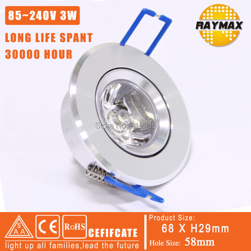 Free shipping 1x 3w led spotlight ceiling spot light LED 1x3W led ceiling light 1PCS/LOT  85-240v (RM-THS0002-3w)<br><br>Aliexpress