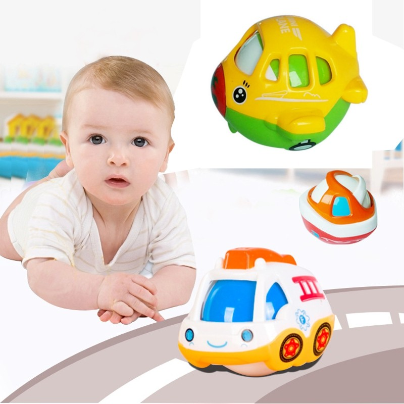 Baby Plastic Ship Car Plane Musical Bell Toys Early Educational Multifunctional Gift Children Care Product 0-12 Months(China (Mainland))