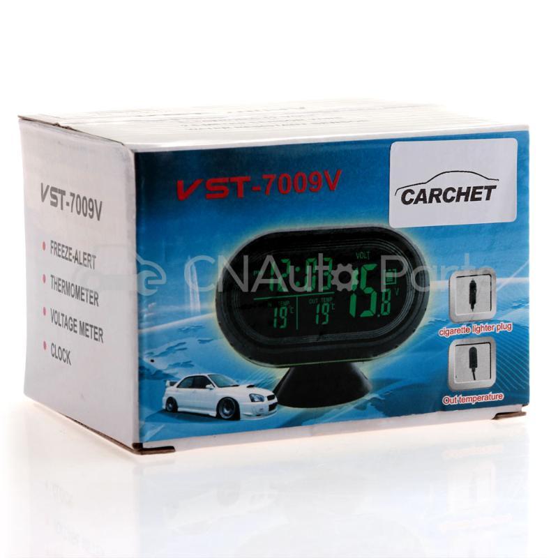 CARCHET Car Back Light Backlight Green LED Display Clock Voltmeter Thermometer Meter