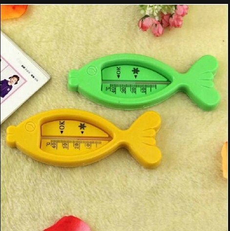 1pcs Cute Floating Fish Toy Baby Lovely Plastic Float Bath Tub Water Sensor Thermometer Free Shipping(China (Mainland))