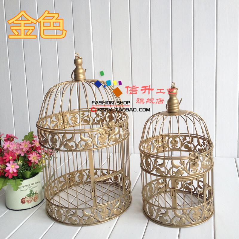 Jaulas Decoracion Comprar ~ Aliexpress com Comprar 1 Unidades oro grande decoraci?n jaula de