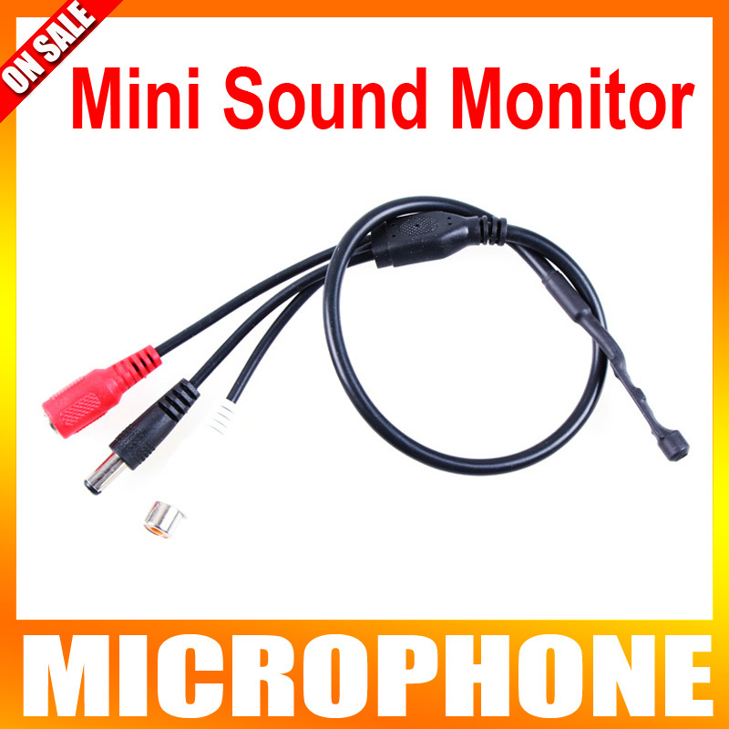 Mini Audio pick up CCTV Microphone Sound Monitor Pick Up Device For Security Camera Audio Surveillance DVR(China (Mainland))