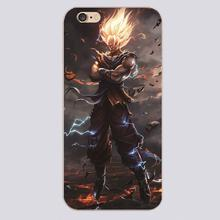 Goku cartoon comic Design transparent case cover cell mobile phone cases for Apple iphone 4 4s 5 5c 5s 6 6s 6plus hard shell