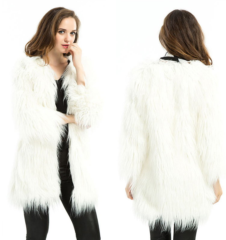 Cheap White Fur Coat