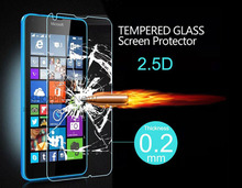 New Ultra Thin 0.2mm Premium Explosion-proof Tempered Glass Screen Protector Film For Microsoft Nokia Lumia 640 With Package(China (Mainland))