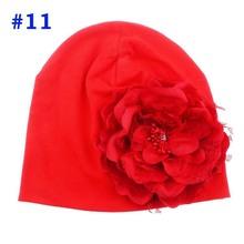 Baby Flower Hat Newborn Girl Cotton Beanie Cap Peony Flower Infant Spring Hat Children Accessories Retail SW057(China (Mainland))